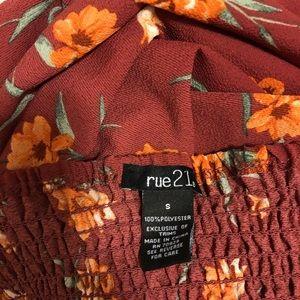 Rue21 Dresses - Rue 21 Off the Shoulder Orange Floral Dress